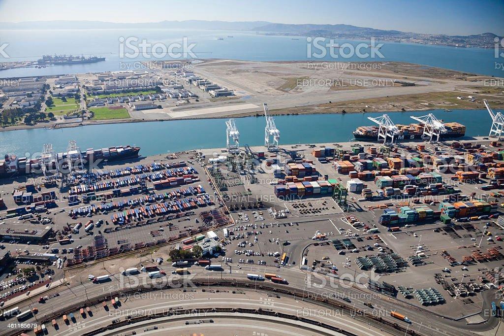 Port of Oakland - California, USA stock photo