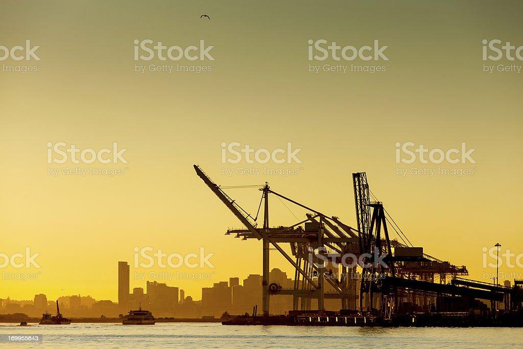Port of Oakland Shipping Cranes stock photo
