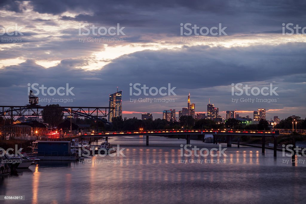 Hafen Offenbach stock photo