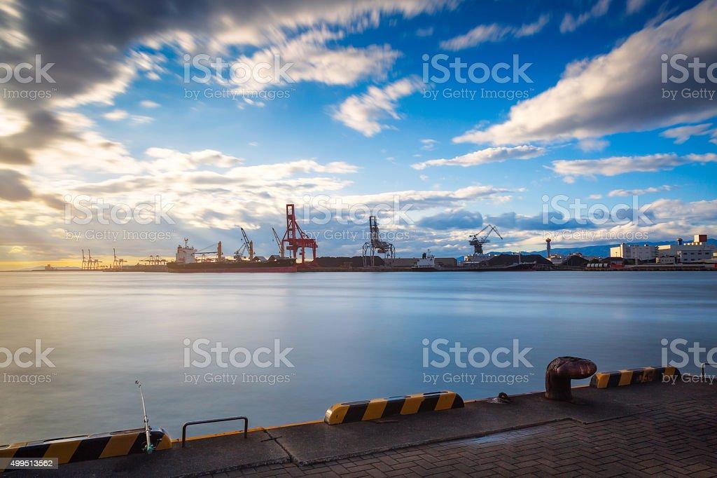 Port of Osaka stock photo