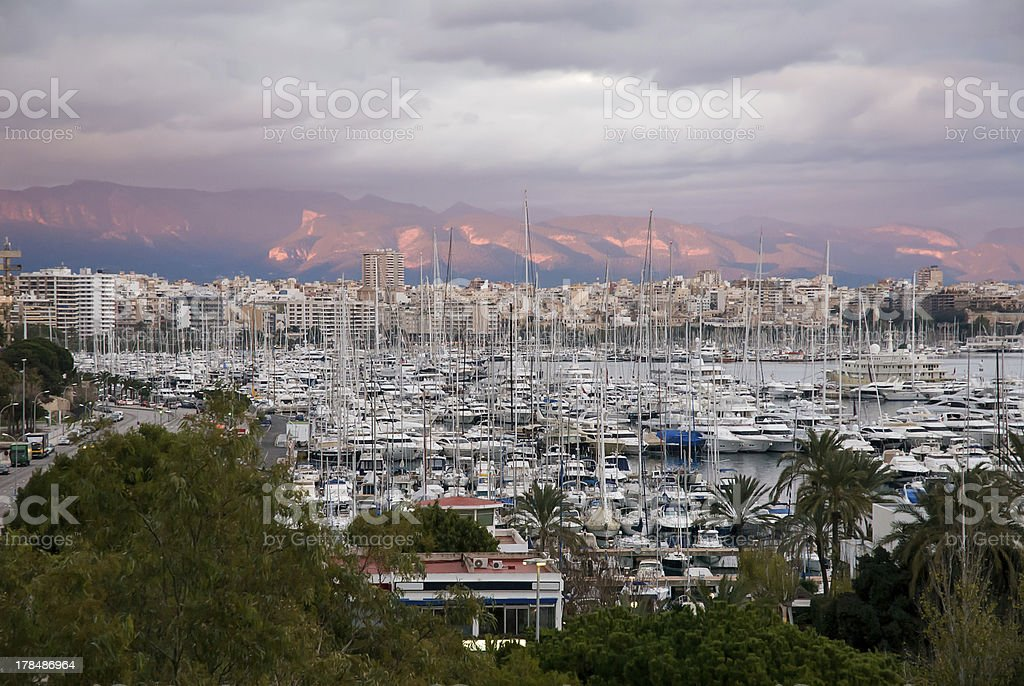Port of Palma de Mallorca royalty-free stock photo