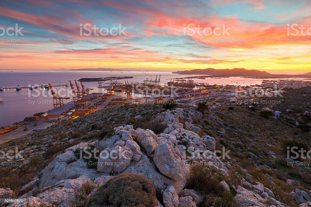 Port of Piraeus, Greece stock photo