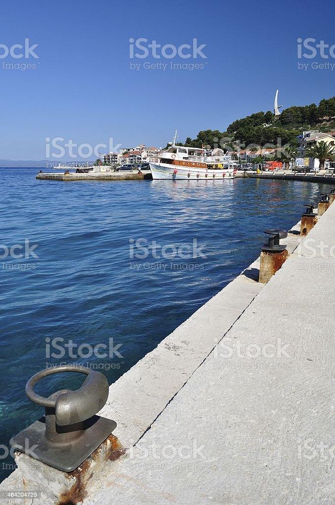 Port of Podgora w Chorwacji zbiór zdjęć royalty-free
