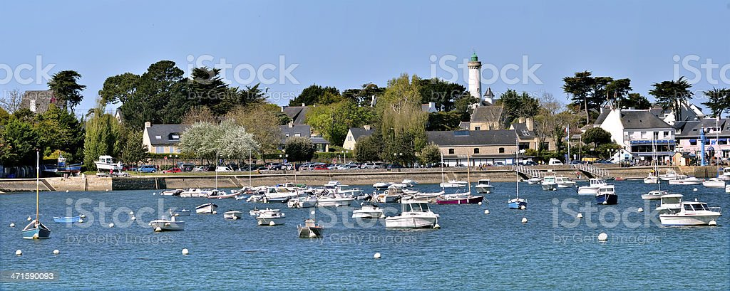 Port of Port-Navalo in France royalty-free stock photo
