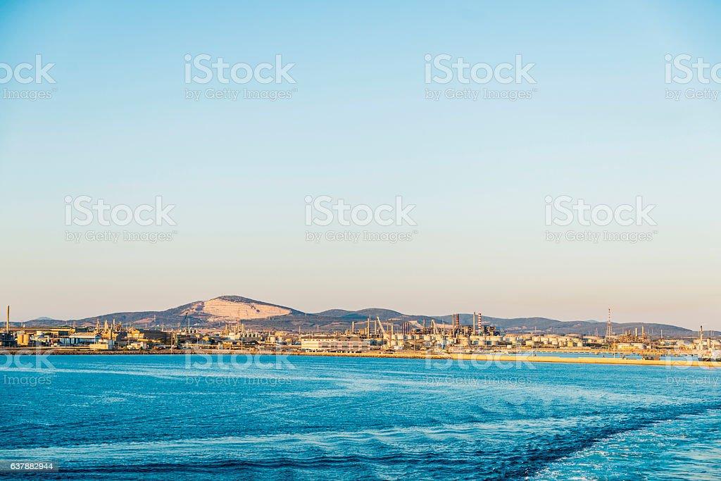 Port of Porto Torres in Sardinia, Italy stock photo