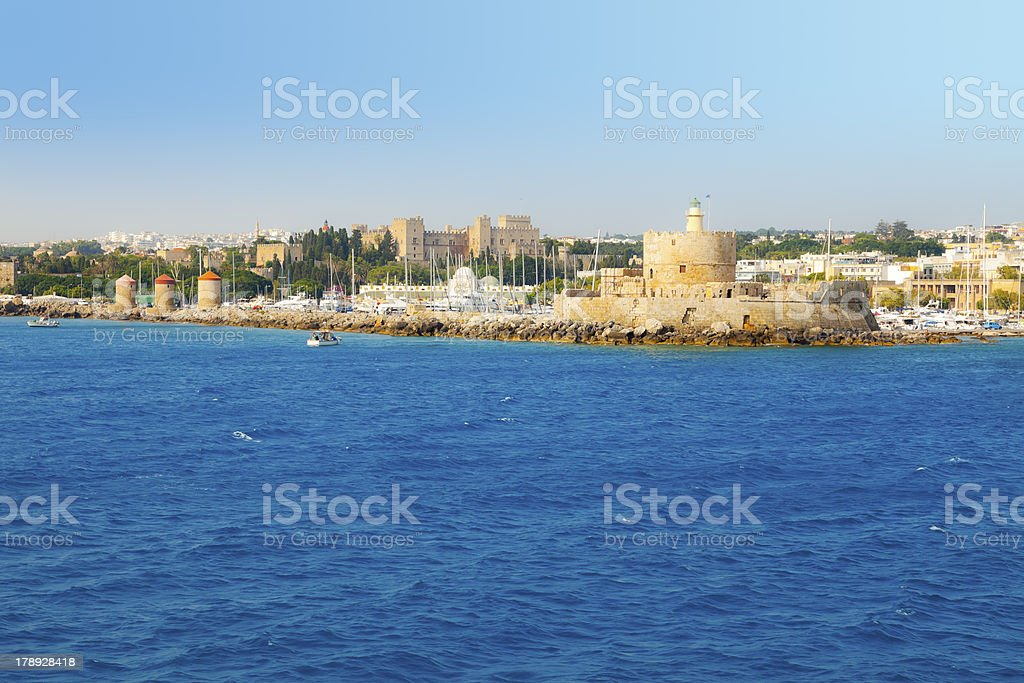 port of Rhodes stock photo