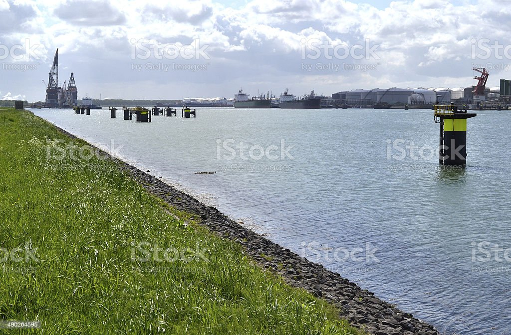 Port of Rotterdam. stock photo