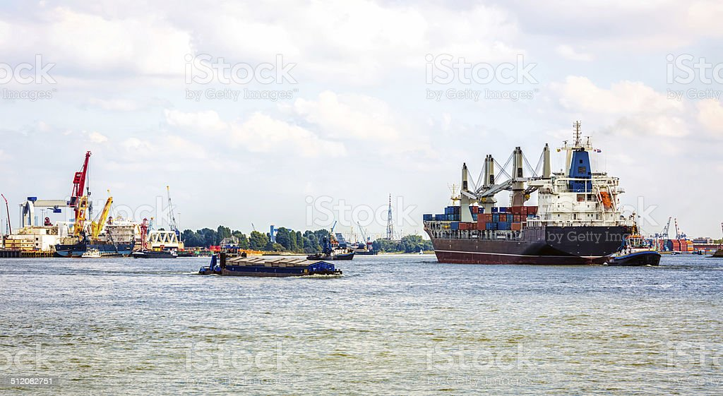 Port of Rotterdam stock photo