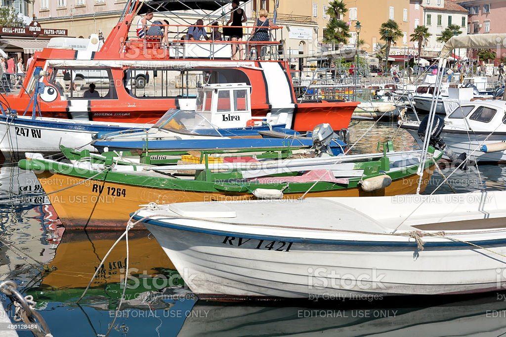 port of Rovinj stock photo