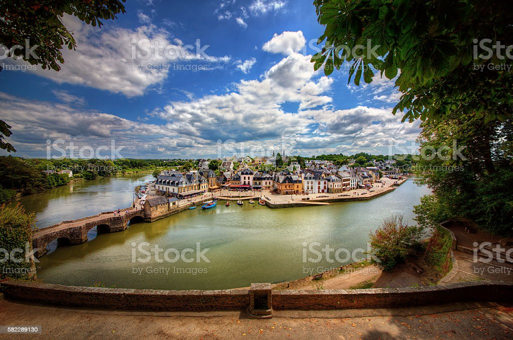 Port de Saint-Goustan, Auray, Brittany stock photo