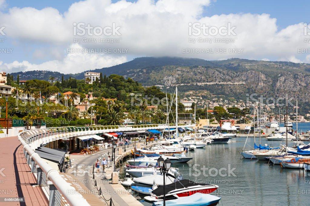 Port of Saint-Jean Cap-Ferrat stock photo