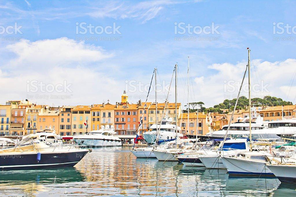 Port of Saint-Tropez, France stock photo