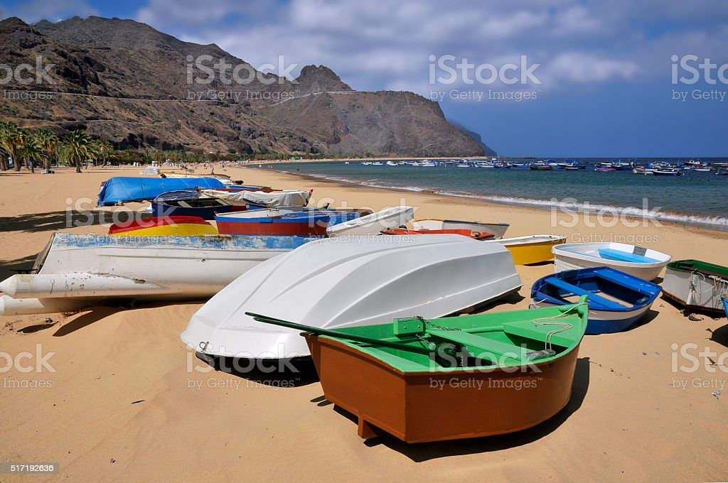 Port of San Andres at Tenerife stock photo