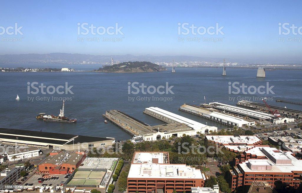 Port of San Francisco royalty-free stock photo