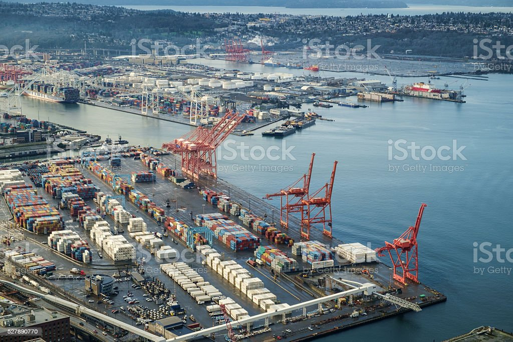 Port of Seattle stock photo