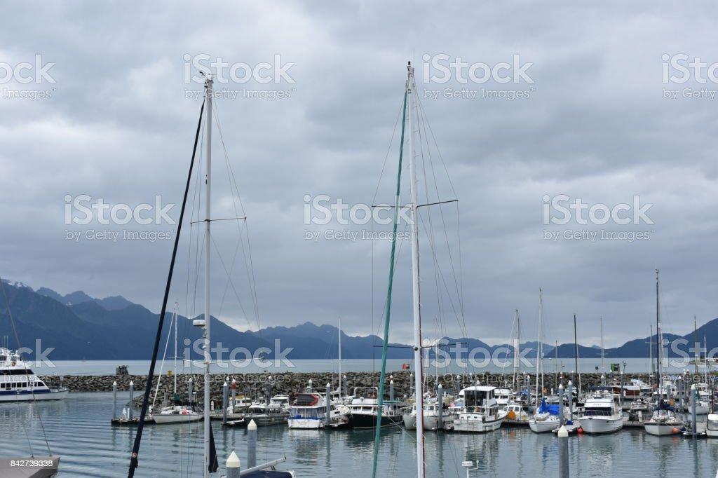 Port of Seward stock photo