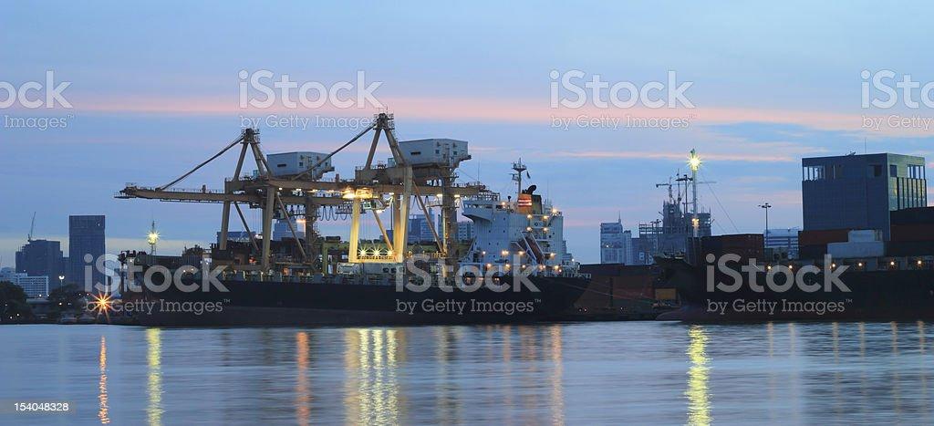 Port of shipment royalty-free stock photo