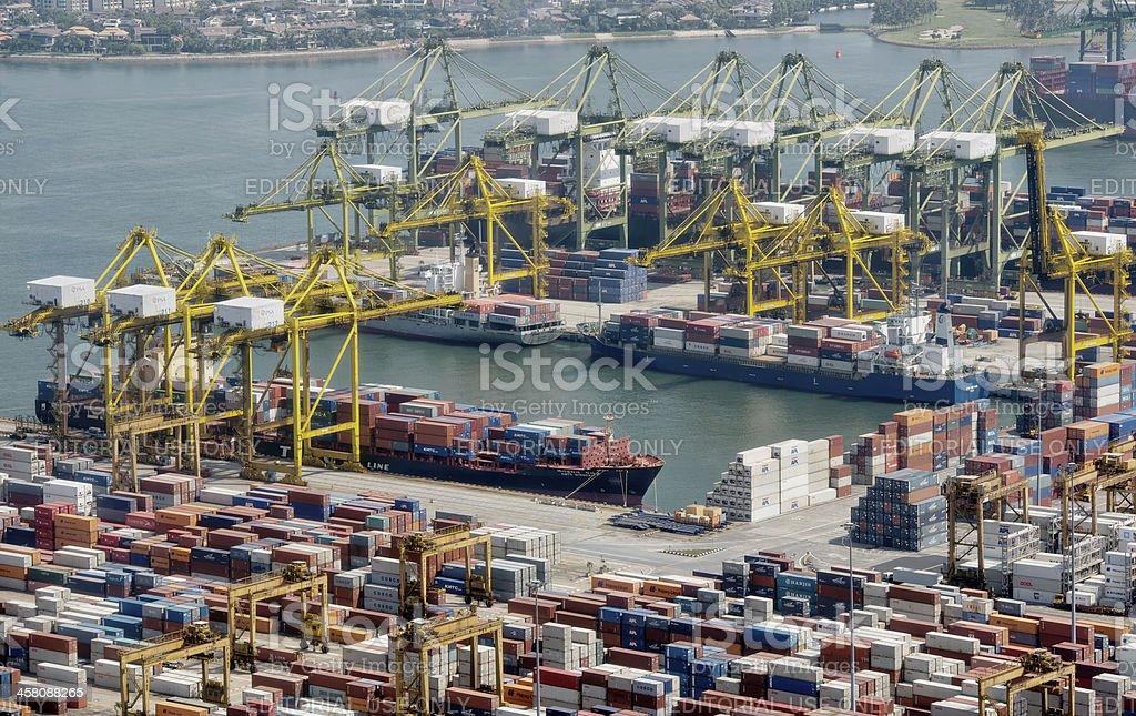 Port of Singapore at Tanjong Pagar royalty-free stock photo