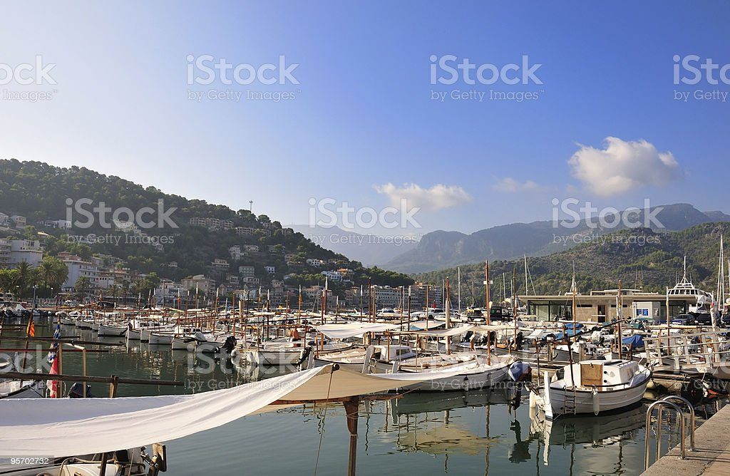 Puerto de Soller, Majorca stock photo