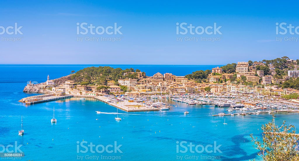Puerto de Soller, Mallorca stock photo