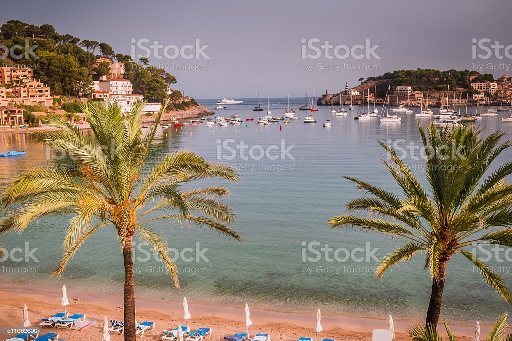 Port de Soller, Mallorca stock photo