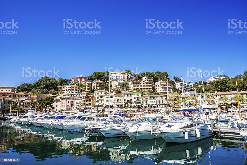 Port de Soller Marina stock photo
