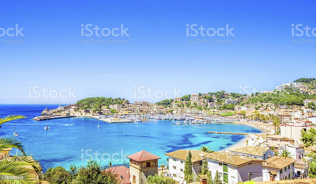 Puerto de Soller (Mallorca) stock photo