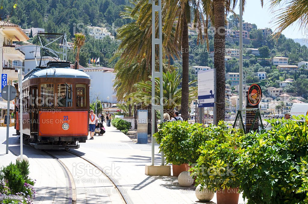 Puerto de Soller Tram stock photo