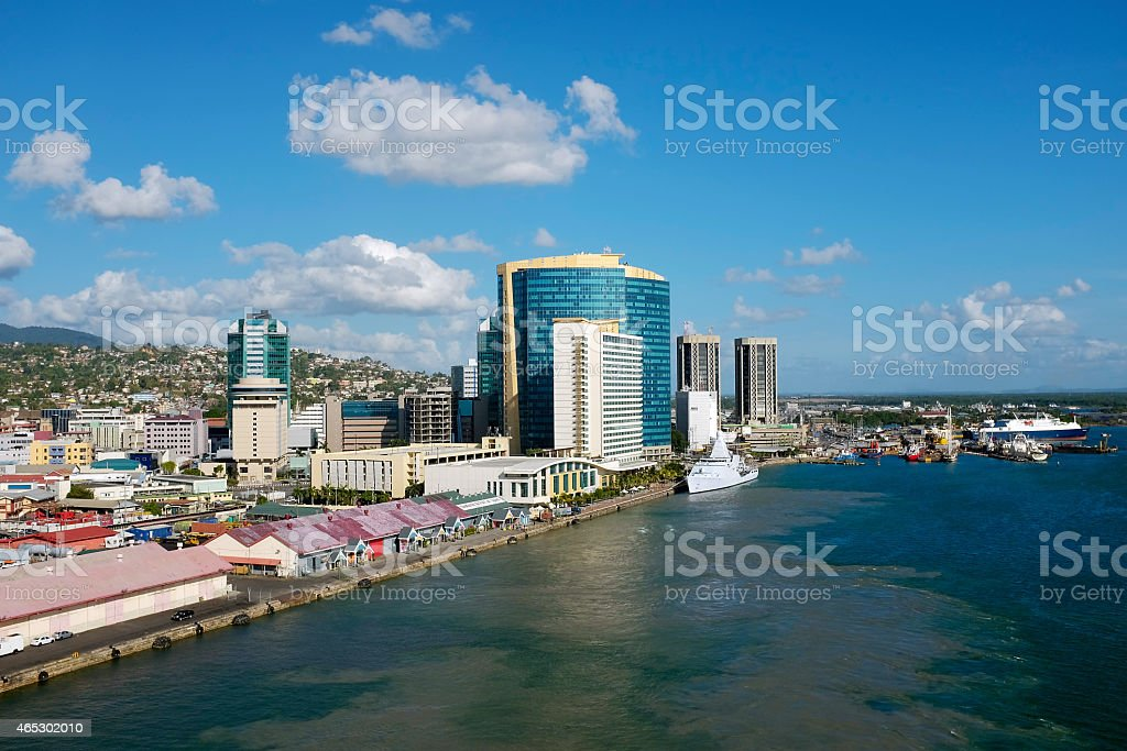 Port of Spain  in Trinidad and Tobago stock photo