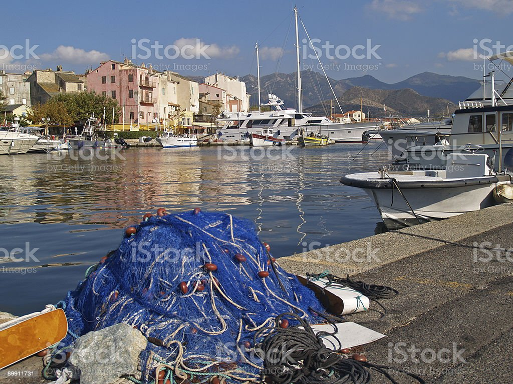 Hafen St Florent Korsika royalty-free stock photo