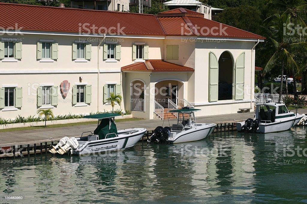 Port Of St. John USVI stock photo