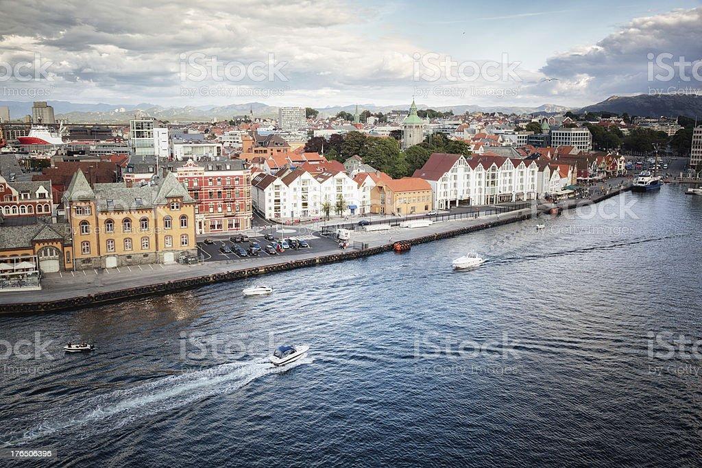 Port of Stavanger, Norway stock photo