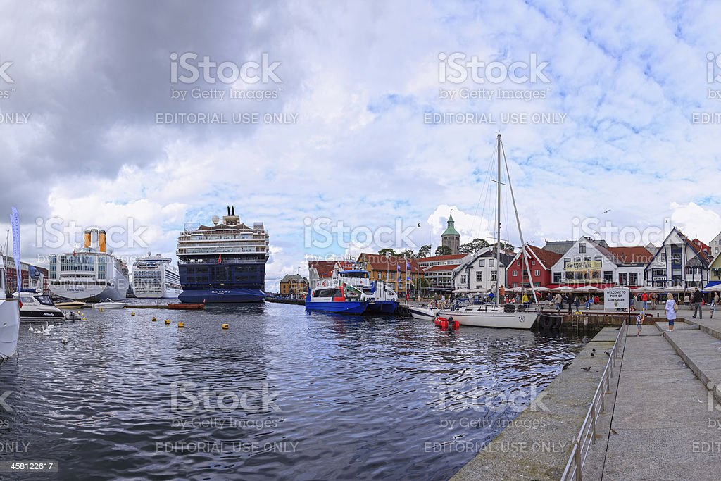 Port of Stavanger, Norway. royalty-free stock photo