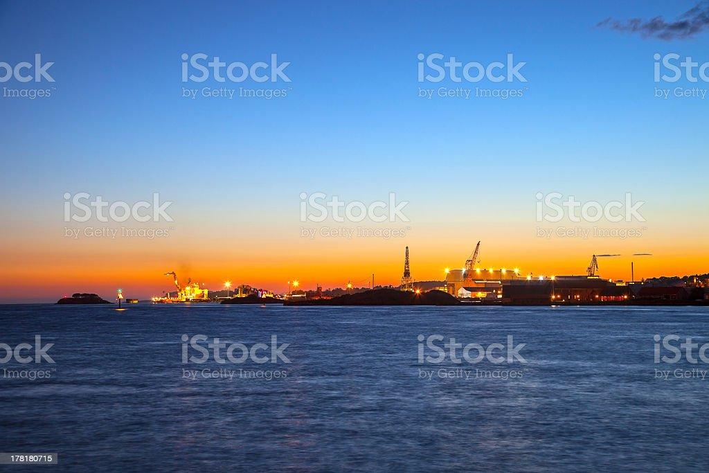 Port of Stavanger royalty-free stock photo