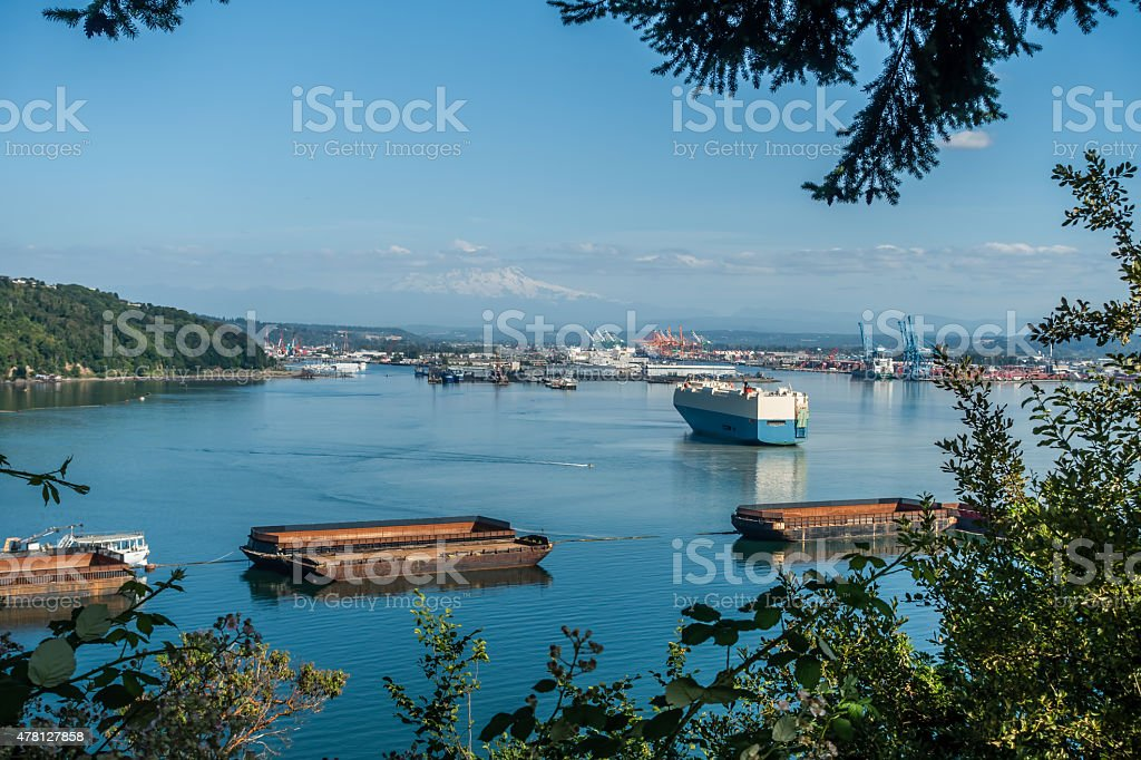 Port Of Tacoma Activity stock photo