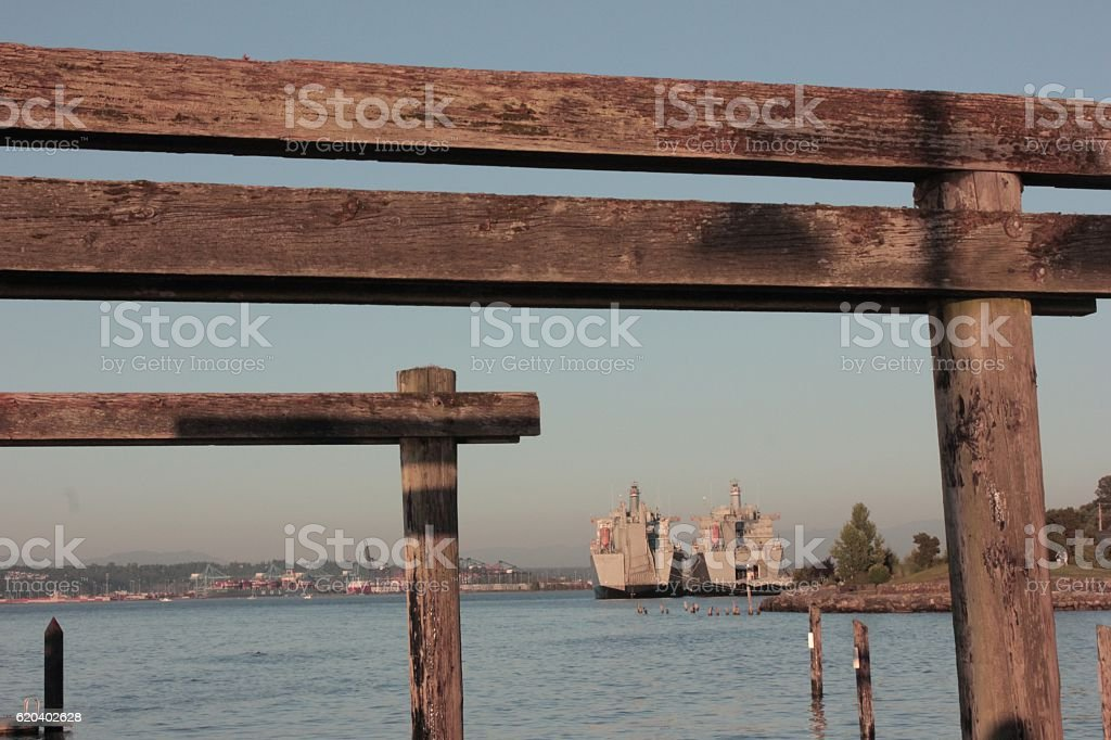 Port of Tacoma stock photo