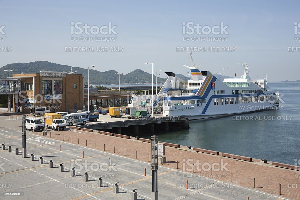 Port of Takamatsu in Japan royalty-free stock photo