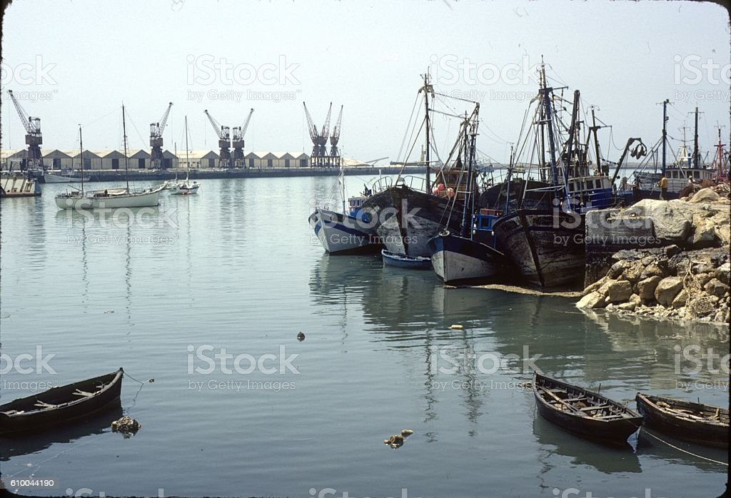 Port of Tangiers, Morocco stock photo