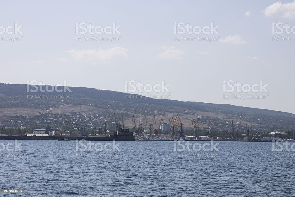 Port of Theodosius. Crimea stock photo