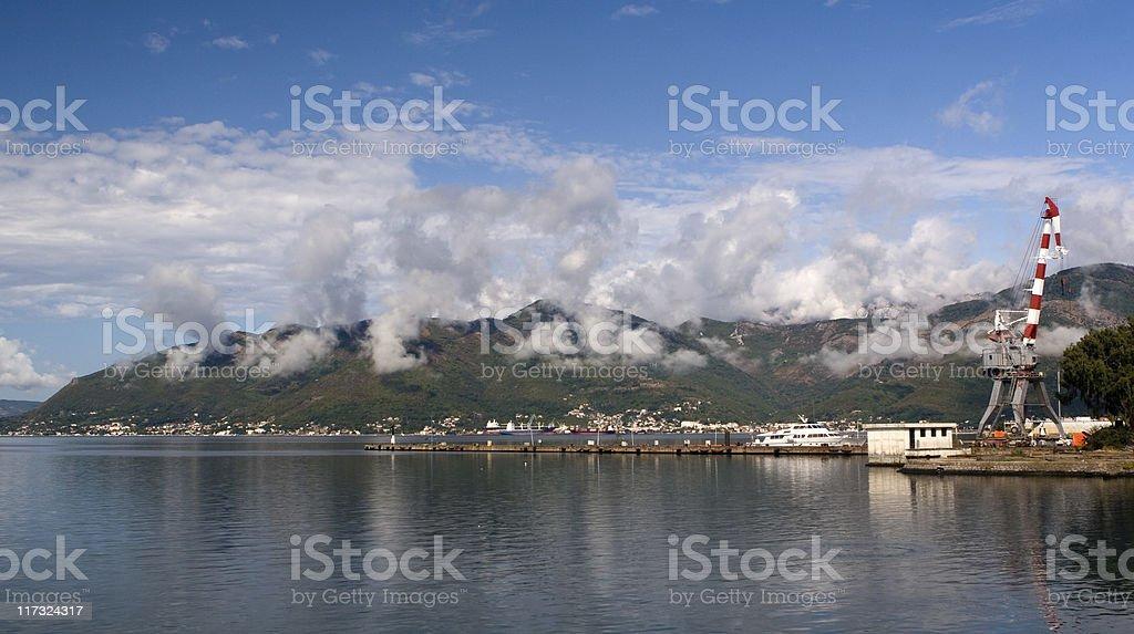 Port of Tivat, Montenegro royalty-free stock photo