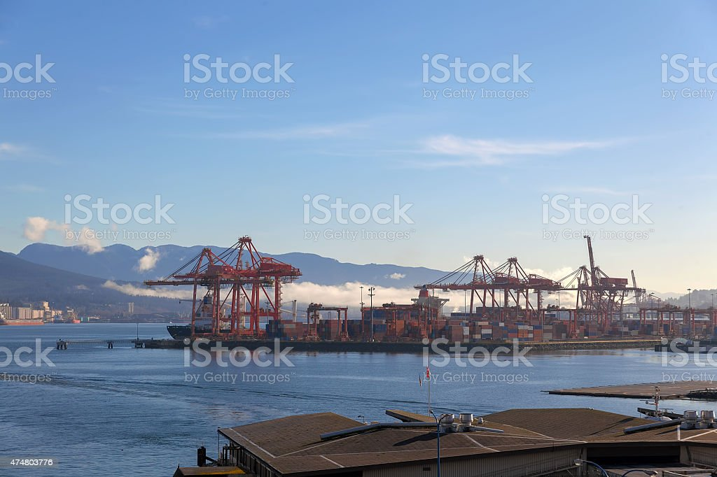 Port of Vancouver BC stock photo