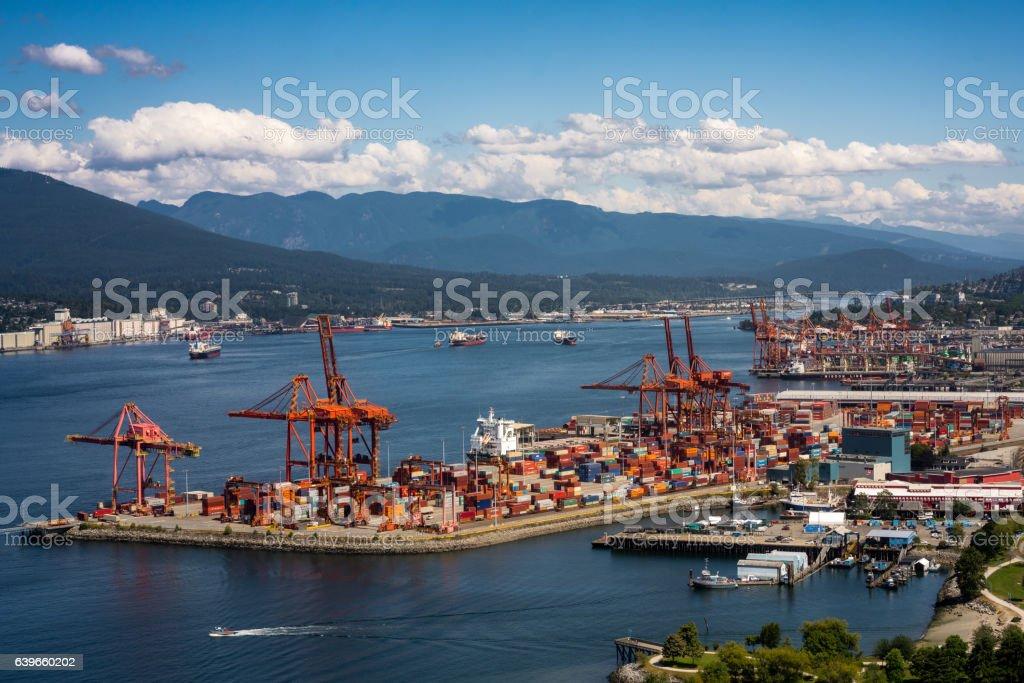 Port of Vancouver stock photo