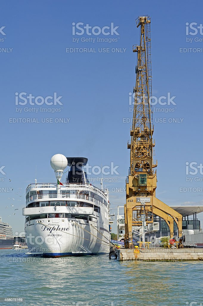 Port of Venice stock photo