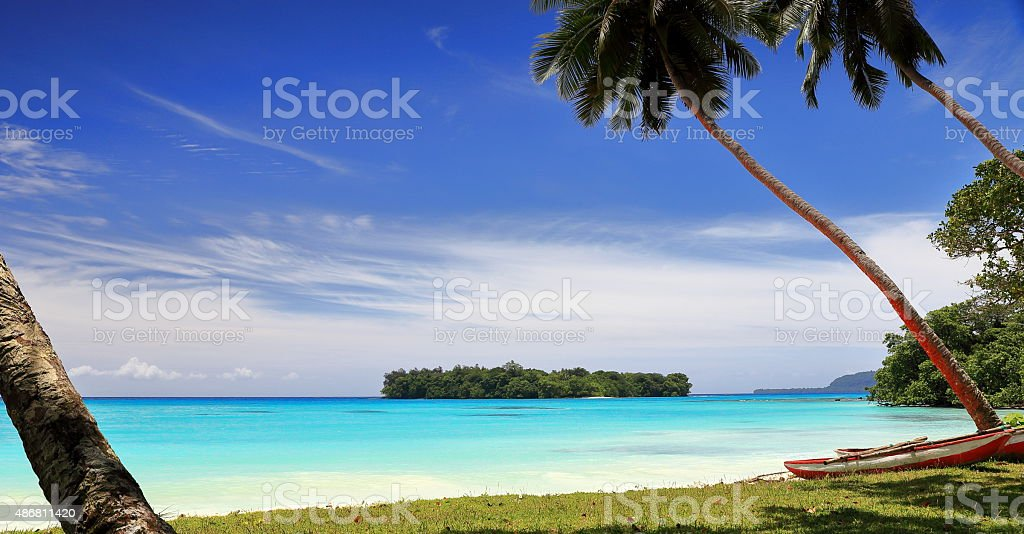 port olry beach-vanuatu stock photo