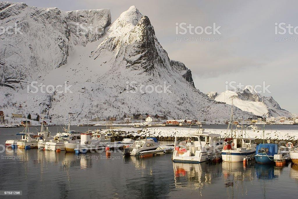 port on the lofoten royalty-free stock photo
