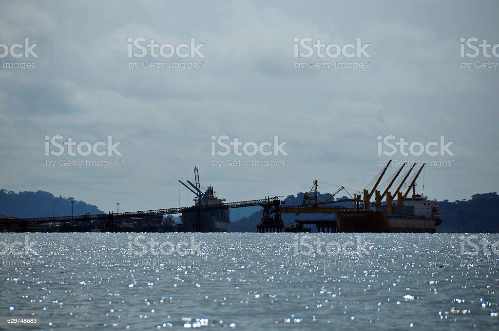 Port Owendo, Gabon - exporting manganese ore stock photo