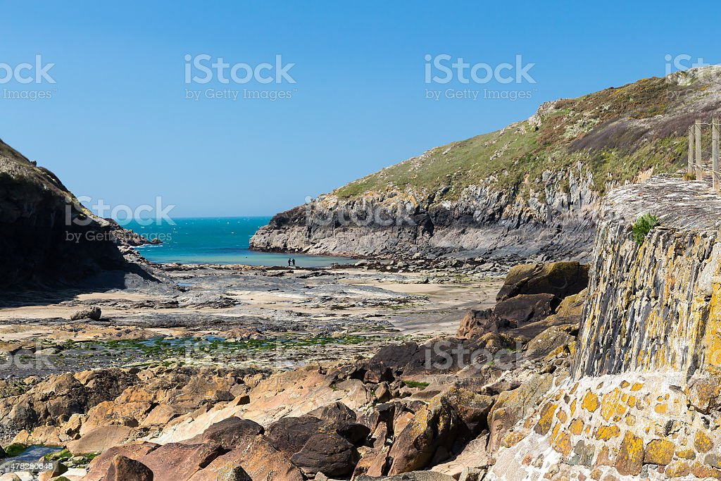 Port Quin Cornwall England stock photo