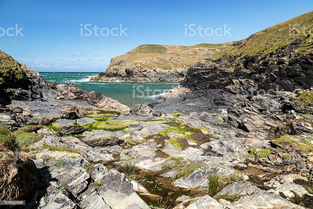 Port Quin stock photo