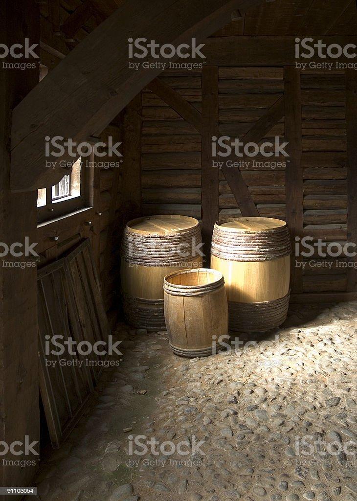 Port Royal Storage Barrels royalty-free stock photo