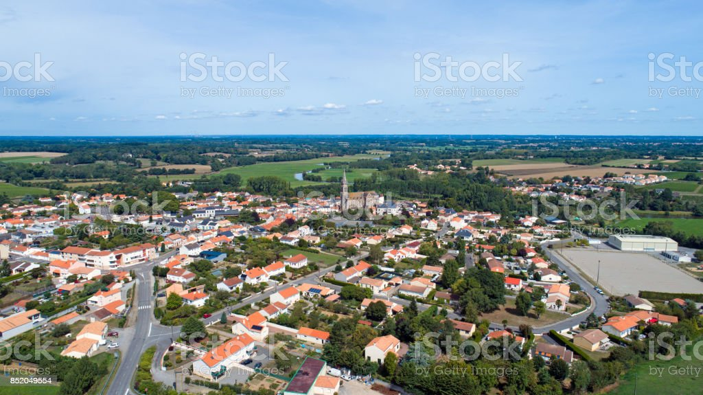 Port Saint Pere village in Loire Atlantique stock photo